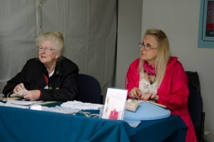 Mildred and Maree demonstrating at Bloom